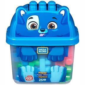 Fisher Price Mega Bloks Τουβλάκια - Κουτί Happy Puppy 25 τμχ (GCT46)