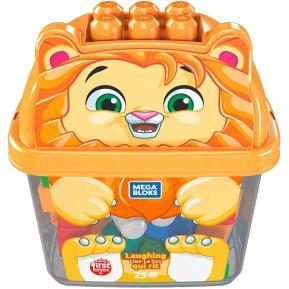 Fisher Price Mega Bloks Τουβλάκια - Κουτί Laughing Lion 25 τμχ (GCT46)