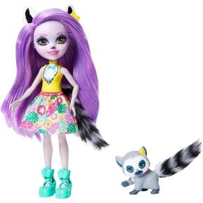 Mattel Enchantimals - Κούκλα & Ζωάκι Φιλαράκι - Larissa Lemur & Ringlet