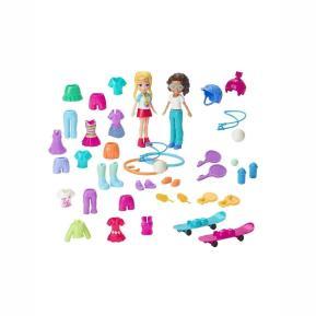 Mattel Polly Pocket και Φίλη Με Ρούχα και Αθλητικά Αξεσουάρ Servin Style Fashion Pack