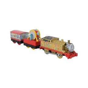 Fisher Price Thomas The Train - Μηχανοκίνητα Τρένα Με 2 Βαγόνια Golden Thomas BMK93