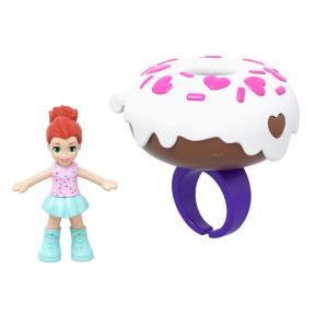Mattel Polly Pocket Mini - Mini Αξεσουάρ Δαχτυλίδι με κούκλα Donut (GHL06)