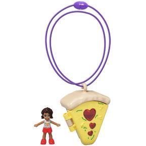 Mattel Polly Pocket Mini - Mini Αξεσουάρ Μενταγιόν με κούκλα Pizza (GHL06)