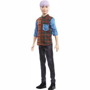 Mattel Ken Fashionistas No154 Μωβ Μαλλιά (DWK44)