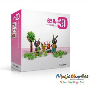 Magic Nuudles 650 τμχ Biodegradable Building Blocks