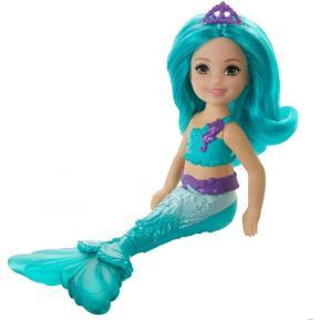 Mattel Barbie Chelsea Γοργόνα Πετρόλ Μαλλία