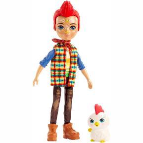 Mattel Enchantimals - Κούκλα & Ζωάκι Φιλαράκι - Redward Rooster & Cluck