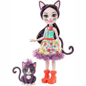 Mattel Enchantimals - Κούκλα & Ζωάκι Φιλαράκι - Ciesta Cat & Climber