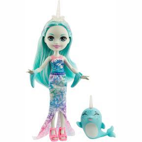 Mattel Enchantimals™ - Κούκλα & Ζωάκι Φιλαράκι -  Naddie Narwhal & Sword