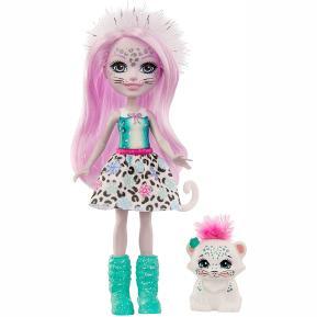 Mattel Enchantimals™ - Κούκλα & Ζωάκι Φιλαράκι -  Sybill Snow Leopard™ & Flake™