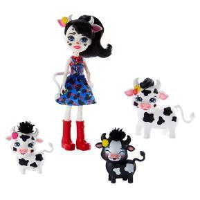 Mattel Enchantimals - Κούκλα & Ζωάκια Φιλαράκια Cambrie Cow, Ricotta Mac & Cheese