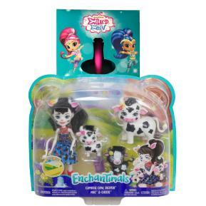 Λαμπάδα Mattel Enchantimals - Κούκλα & Ζωάκια Φιλαράκια Cambrie Cow, Ricotta Mac & Cheese (GJX43)