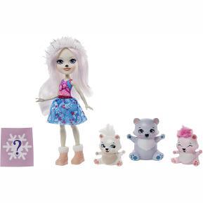 Mattel Enchantimals - Κούκλα & Ζωάκια Φιλαράκια Pristina Polar Bear