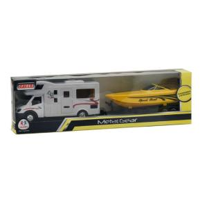 Τροχόσπιτο με ριμουλκούμενο κίτρινο σκάφος (358459)