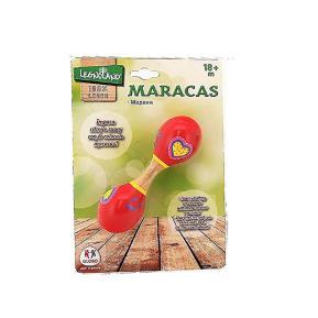 Μικρές Ξύλινες Μαράκες Κόκκινες 15cm (376996)