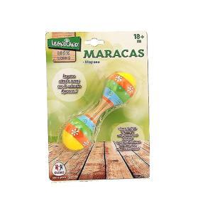 Μικρές Ξύλινες Μαράκες Πολύχρωμες 15cm (376996)
