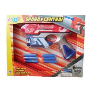 Όπλο με 6 μαλακά bullets μπλε - κόκκινο