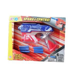 Όπλο με 6 μαλακά bullets κόκκινο - μπλε