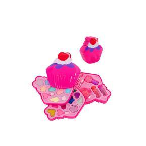 Sbelletti Κασετίνα Make-Up 3 επιπέδων Glitter Cupcake