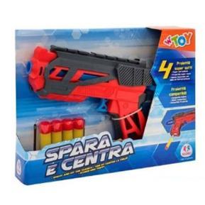 Shooting Gun με 4 μαλακά Bullets κόκκινο