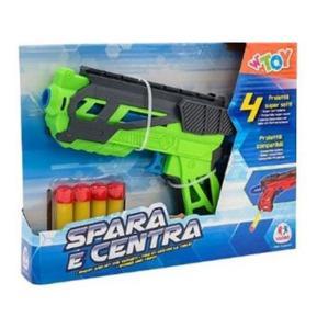 Shooting Gun με 4 μαλακά Bullets πράσινο