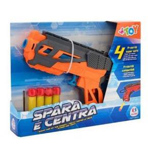 Shooting Gun με 4 μαλακά Bullets πορτοκαλί