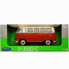 Welly Nex 1:24 Die Cast Car 1963 Volkswagen T1 Bus (385035)