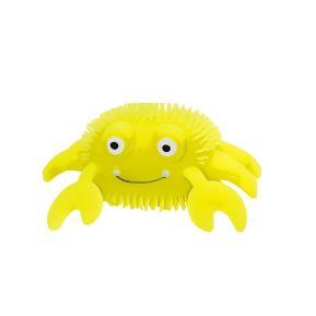 Globo Wtoy Strizz Me Μαλακό Χλαπατσοκαβουράκι Κίτρινο με Led