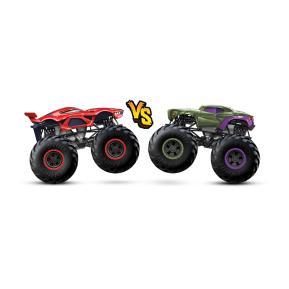 Mattel Hot Wheels Οχήματα Monster Trucks HW Marvel Spiderman VS Marvel Venomized Hulk
