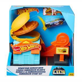 Mattel Hot Wheels Βασικές Πίστες City - Downtown Burger Dash