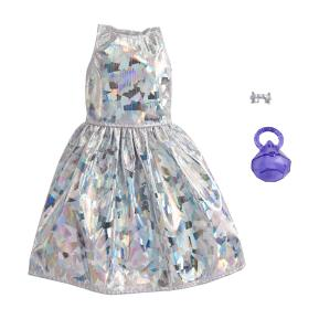 Mattel Barbie Βραδινά Σύνολα Ασημί Φόρεμα