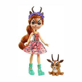 Mattel Enchantimals - Κούκλα & Ζωάκι Φιλαράκι - Gabriela Gazelle & Racer