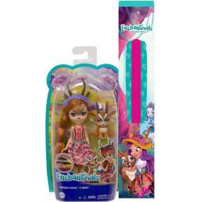 Λαμπάδα Mattel Enchantimals - Κούκλα & Ζωάκι Φιλαράκι - Gabriela Gazelle & Racer