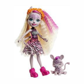 Mattel Enchantimals™ - Κούκλα & Ζωάκι Φιλαράκι - Zadie Zebra & Ref