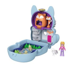 Mattel Polly Pocket Mini - Σετάκι Flip & Reveal Artic Fox