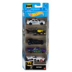 Mattel Hot Wheels Αυτοκινητάκια Σετ Των 5 Batman