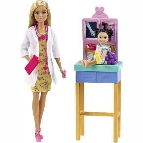 Mattel Barbie Σετ Επαγγέλματα Ξανθιά Κούκλα Παιδίατρος