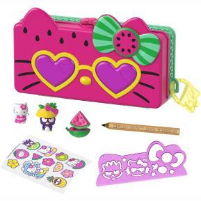 Mattel Hello Kitty - Κασετίνα & Σετ Παιχνιδιού Beach Pencil Playset