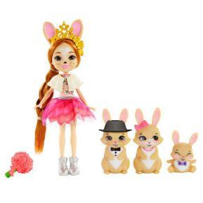 Mattel Enchantimals Royals - Κούκλα & Οικογένεια Λαγουδάκια GYJ08