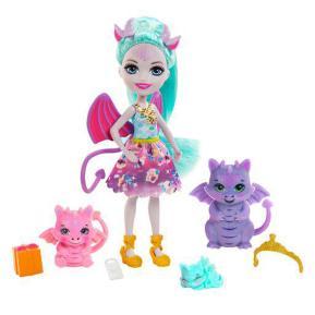 Mattel Enchantimals Royals - Κούκλα & Οικογένεια Δράκοι GYJ09