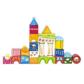 Hape - Πολύχρωμο Ξύλινο Κάστρο Με Σχήματα