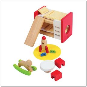 Hape - Happy Family Ξύλινο Παιδικό Υπνοδωμάτιο