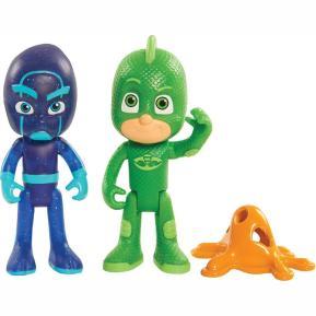 PJ Masks Βασική Φιγούρα 2 Pack Gekko - Night Ninja