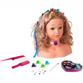 Theo Klein 5240 Princess Coralie Make-Up and Hairdressing Head Sophia I With Hair Clips