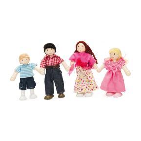 Le Toy Van Ξύλινες Φιγούρες Οικογένεια Dolly 4 τεμ. 10cm P053