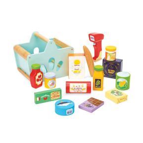 Le Toy Van Ξύλινο Καλάθι με ψώνια και scanner TV326