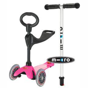 Πατίνι Mini Micro Pink With Seat & O-Bar