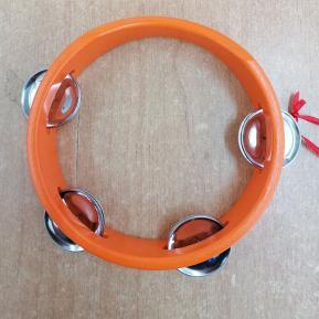 Ξύλινο Ταμπούρινο 18cm Πορτοκαλί (002651)