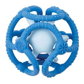 Nattou Silicon Σετ 2 μπάλες σιλικόνης - μασητικά (μπλε-γαλάζιο)