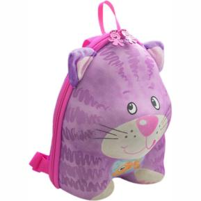 Okiedog Wildpack Τσάντα Νηπίου Πλάτης Cat Purple (80043)